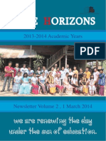 Wide Horizons Newsletter Vol 2 2014
