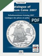 Catalogo de Monedas de Paladio Edicion 2007