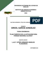 Plan Turístico De Activación Para Parque Nacional El Chico