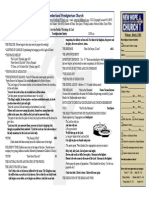 March 2, 2014 Worship Bulletin