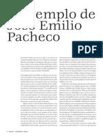 EL EJEMPLO DE JOSÉ EMILIO PACHECO