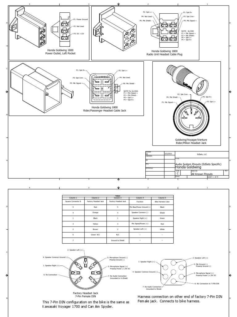 intercom pinouts pdf electrical connector microphone rh scribd com GL1100 Wiring-Diagram GL1100 Wiring-Diagram