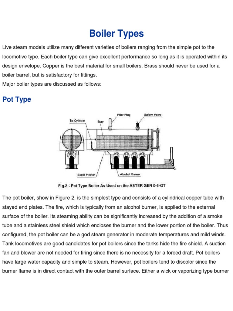 1. Boiler Types.docx | Cookware And Bakeware | Boiler