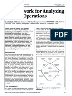 Analyzing Framework for Service Operations