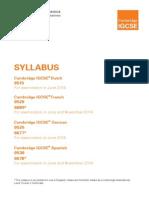 Music Syllabus