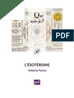 L'ésotérisme (Que sais-je) A. Faivre - 2012.pdf