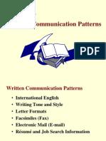 Chapter 7 Written Communication Patterns 5th Ed