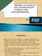An Econometric Analysis of the Impact of Fdi
