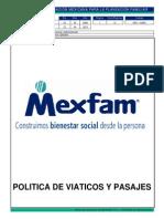 GFA-CG001 Politica de Viaticos y Pasajes