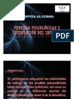 "CURSO PRUEBAS PSICOLÃ""GICAS E INTEGRACIÃ""N DE L INFORME"