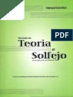 Método de Teoria Musical Elementar e Solfejo - Novo Bona CCB - Revisão Fevereiro/2009