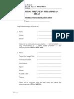 Contoh Surat Perjanjian Kerja Harian Lepas FH UII