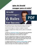 Las 6 reglas de Arnold Schwarzenegger para el éxito