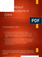 Learn About Conversations in OWA