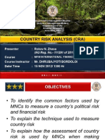 Country Risk Analysis CRA Ppt by R N Zhasa