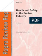 Health and Safety in the Rubber Industry Rapra Review Reports