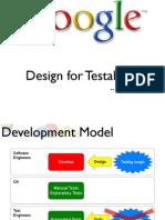 Design for Testablity