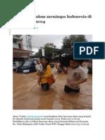 13 Bencana Alam Menimpa Indonesia Di Awal Tahun 2014