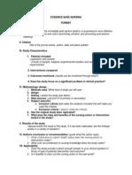 Format-evidence Base Nursing