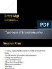 3.2 Typology of Entrepreneurs