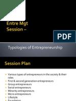 3.2 Typology of Entrepreneurs