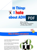 10 Things I Hate About Adhd E-book
