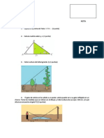 Examen Teorema Tales