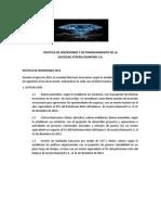POLÍTICA DE INVERSIONES Y DE FINANCIAMIENTO DE LA SOCIEDAD JOYERIA DIAMOND S
