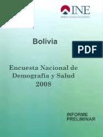 Encuesta Nacional de Demografía y Salud ENDSA 2008