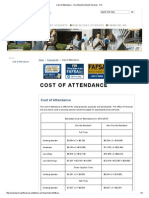 Cost of Attendance FIU