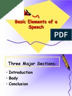 Basic Elements of a Speech