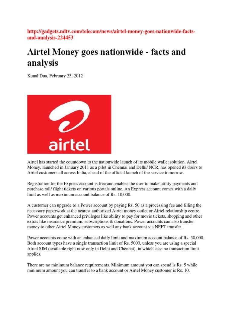 Airtel Money | Mobile Phones | Financial Transaction
