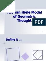 Model pemikiran Geometri Van Hiele