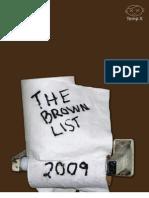 Brown List 2009