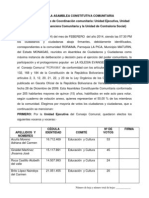 Acta Asamblea Constitutiva Comunitaria Roraima Taquilla Unica