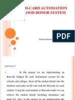 BLOOD BANK SYSTEM USING BAR CODE