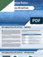 Data Logging in Heavy, Off-road Trucks