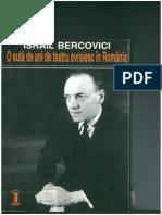 Israil Bercovici -O Suta de Ani de Teatru Evreiesc in Romania