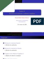 Sesión 13 (Sistemas lineales y no lineales, números complejos)