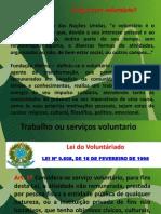 Lei do trabalho voluntário