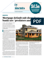 Mortgage Default Suit Shows Banks Are Predatory