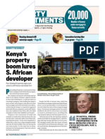 Kenya's Property Boom Lures S African Developer