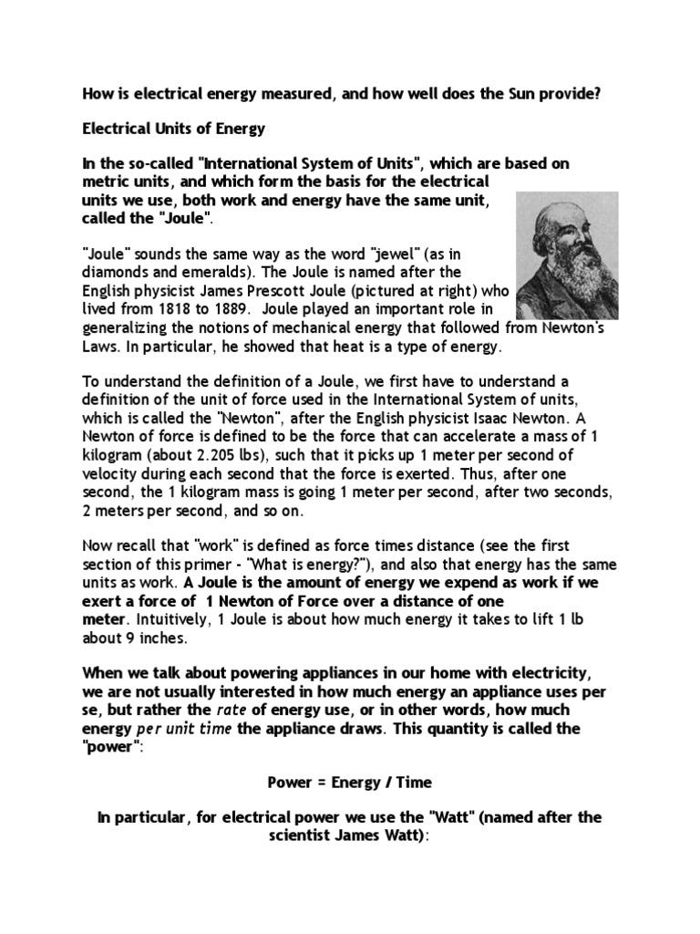 How is energy measured 48