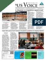 FSCJ Campus Voice Newspaper December 2 Front