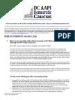 DC AAPI Democratic Caucus Candidate Questionnaire-Vincent Gray