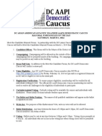 DC AAPI Democratic Caucus Mayoral Straw Poll Rules of the Day
