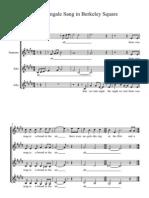 A Nightingale Sang in Berkeley Square - Full Score