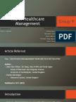 MIS in Healthcare Management