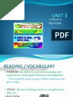 UNIT 3 Proverbs