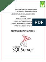 Manual de instalación SQL Server